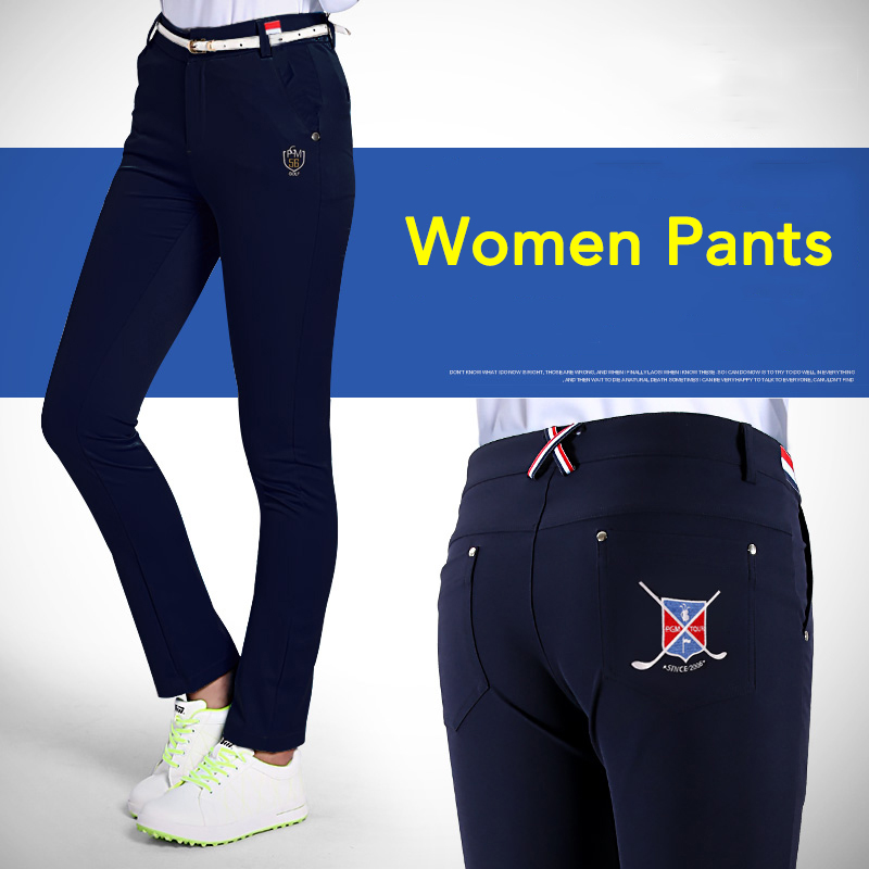 High-quality Brand Golf Pants Womens Trouser Essentials Pure Motion Lady Full Length Pant Highly-elastic Sports Golf Apparel