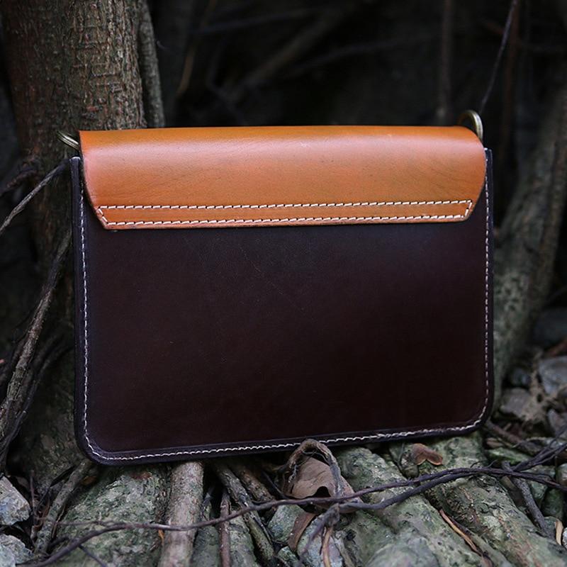 Echte Natürliche Leder Frauen Einzigen Schulter Tasche Schwarz/Braun Mini Weibliche Casual Geprägt Schmetterling Messenger Tasche - 4