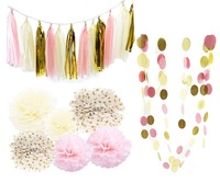 20pcs Set Paper Flower Balls Paper Tassels Paper Garlands Decoration Set Birthday Party Wedding Ornament Home