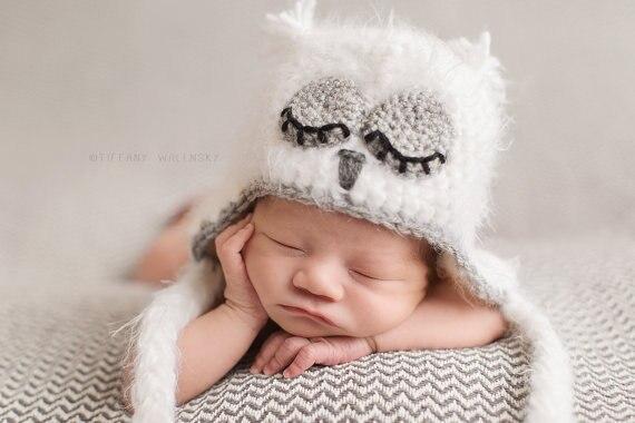 Crochet Fuzzy Baby Owl Hat 8b966fc84d2a