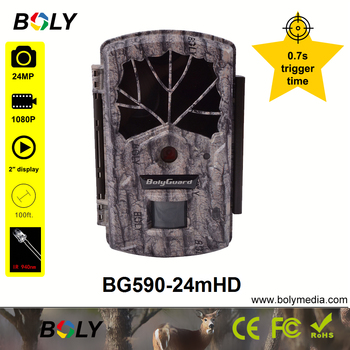 hunting cameras Boly 24MP 0.7S trigger time no glow IR 940nm invisible IR photo traps sounds recording 100 ft trail game cameras 1