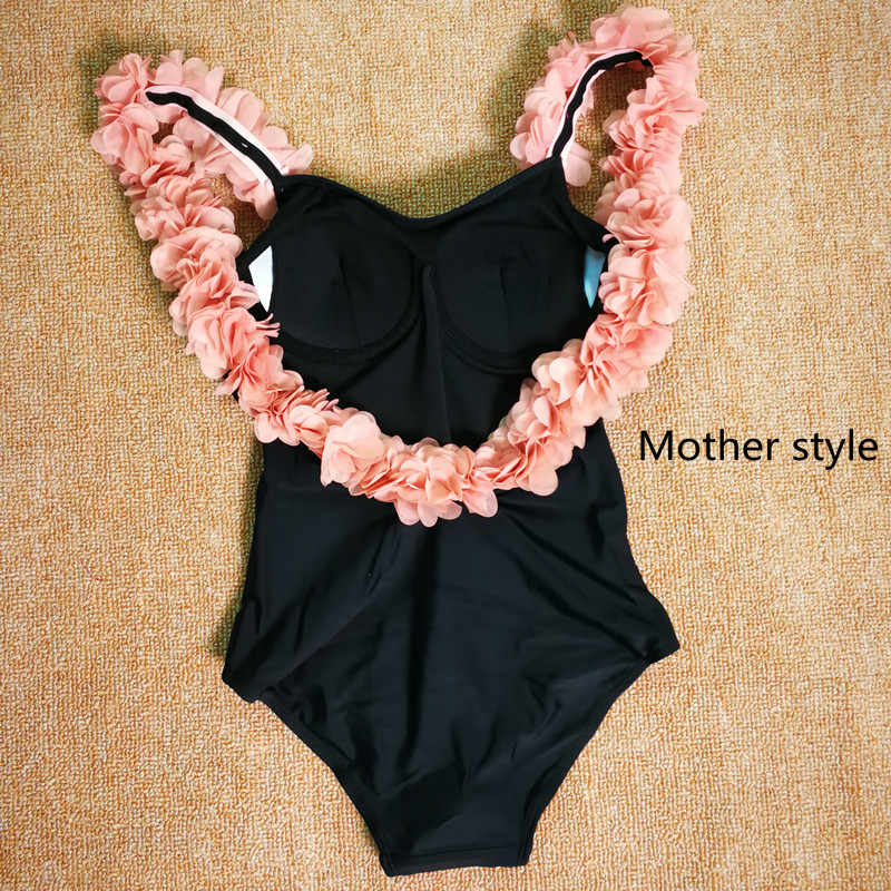 5395e54e6d681 ... Imayio Children flower Swimsuits Baby Girls One-piece Swimsuit 3D Floral  Open Back Bathing Suit ...