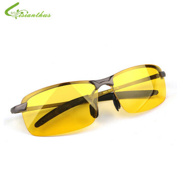 2019 New Arrival Men's Glasses Car Drivers Night Vision Goggles Anti-Glare Polarizer Sun glasses Polarized Driving Sunglasses
