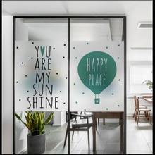 Window Glass stickers English frosted window glass film bathroom light opaque office custom