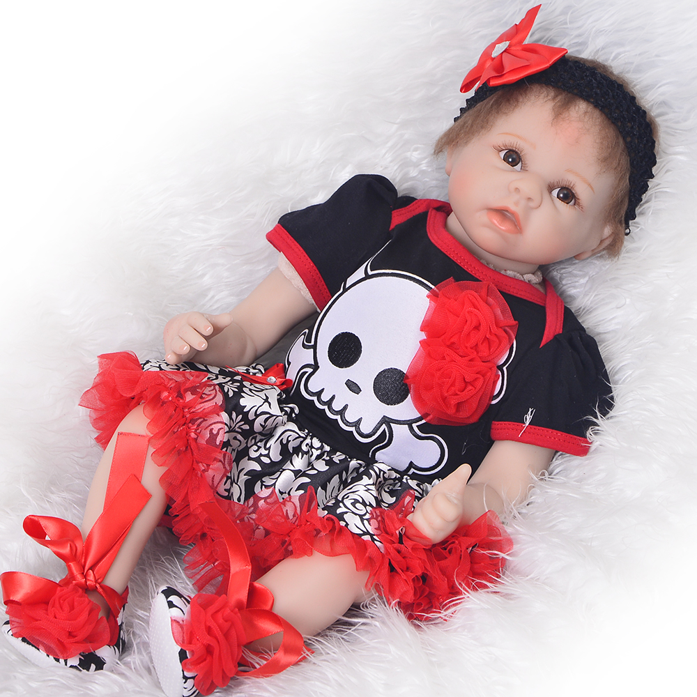 Realistic Baby Dolls Reborn Girl 22 Lifelike Soft Silicone Babies Reborn Baby Doll Toys For Children gift bebes rebornRealistic Baby Dolls Reborn Girl 22 Lifelike Soft Silicone Babies Reborn Baby Doll Toys For Children gift bebes reborn