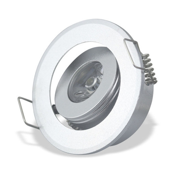 Adjustable LED 1W 3W Mini Recessed Ceiling Downlight Kit Under Cabinet Lights Silver Aluminum Light With  sc 1 st  AliExpress.com & Adjustable LED 1W 3W Mini Recessed Ceiling Downlight Kit Under ...