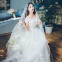 YOSIMI 2018 Summer Long Women Dress Evening Party White Voile Female Dress Maxi Elegant Floral Embroidery Slash Neck High Qualit