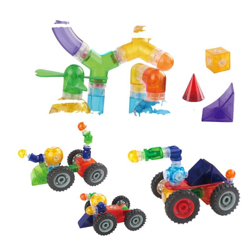 DIY Building Blocks Magnetic 32PCS Designer Pipeline Enlighten Toys Construction Models Plastic Magnetic Creative Bricks смеситель для ванны vidima ретро короткий круглый излив ba128ls