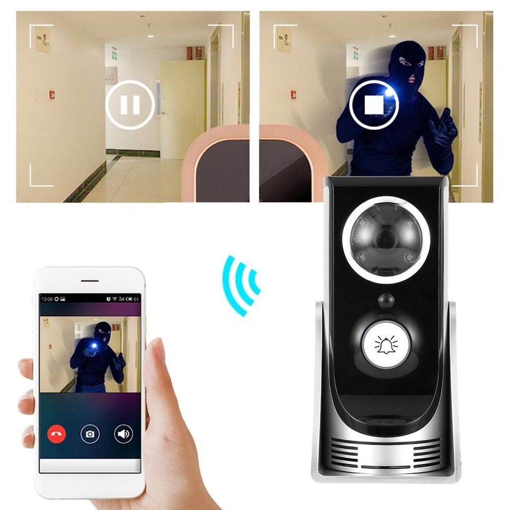 WiFi Video Intercom Doorbell APP for iPhone iPad Android Mobile Phone Remote Control Unlock Two-Way Audio Night Vision Door Ring цена