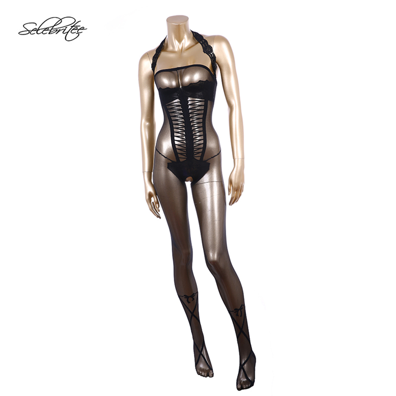Buy Selebritee Womens Bodystocking Hot Sexy Underwear Erotic Sleepwear Open Crotch Nightgown See Babydoll Lingerie Bodysuit