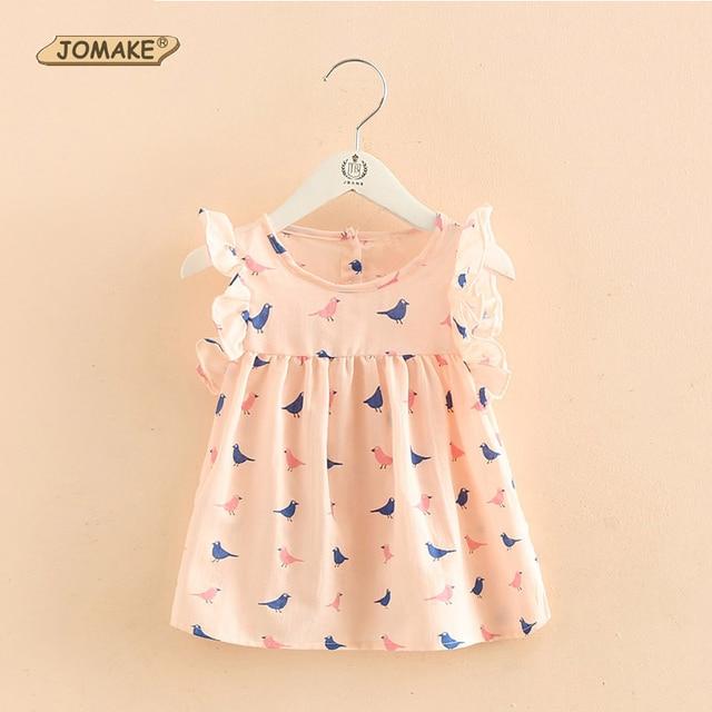 Cartoon Birds Printed Girls T Shirt Cute Baby Girl Clothes Fly