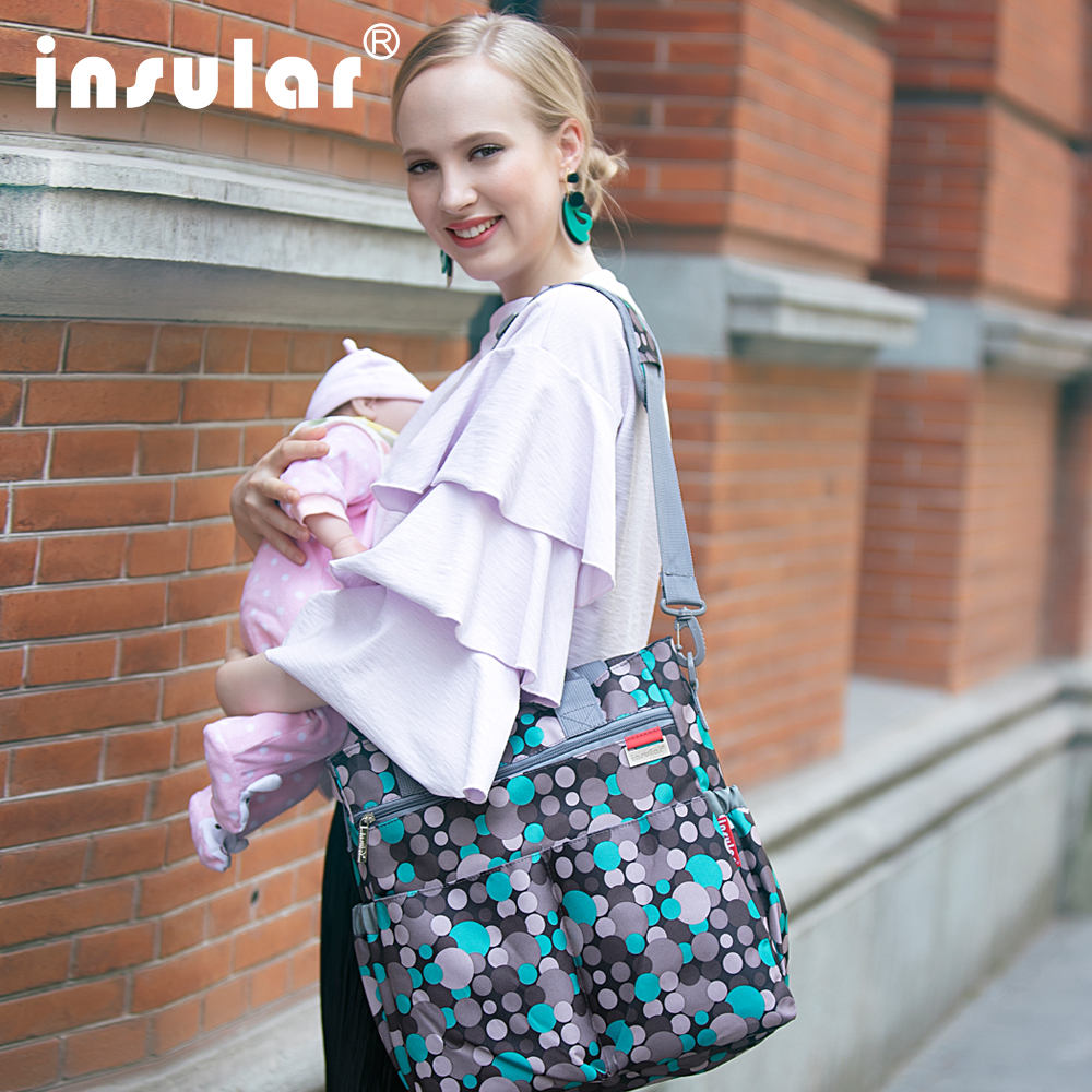 Insular 3 pcs/set Multi-function Baby Diaper Nappy Changing Bag Mother Maternity Bag Wet Bag for Baby Stuffs Hobos Mom
