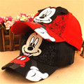 2016 Korean children baseball caps children cap Hip hop Mickey snapback cap for boys of peaked cap girls bone