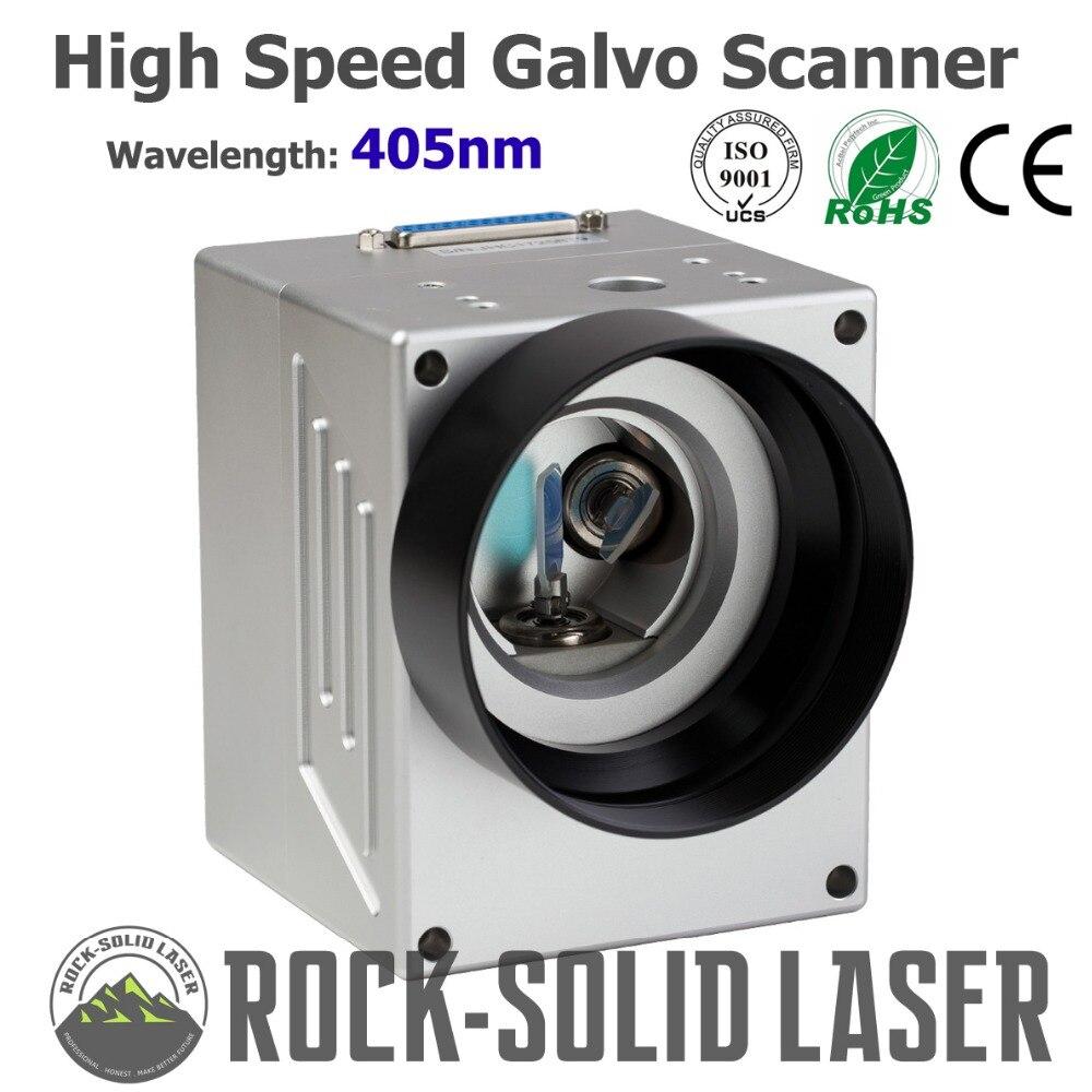Высокая скорость Galvo сканирующая головка для лазерной маркировки машины 405nm синий фиолетовый луч гальванометр с питание комплект