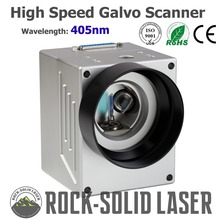 High Speed Galvo Scanner Head For Laser Marking Machine 405nm Blue Violet Ray Galvanometer with Power Supply Set
