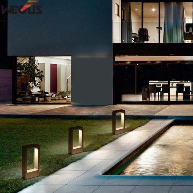 Production indépendante de moules de recherche et développement, lampe à gazon haut de gamme moderne, lampes de jardin, lumières imperméables extérieures. H30CM