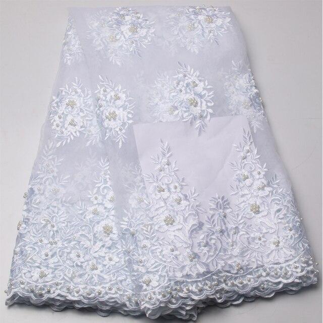 tissu africain blanc