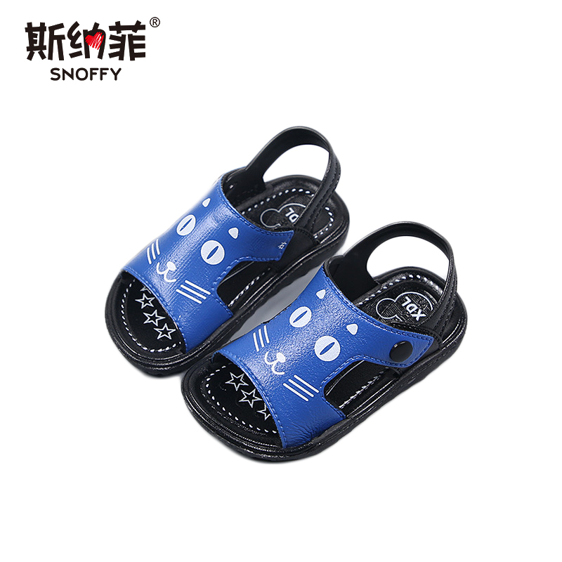 Buckle rubber childrens shoes slip soft bottom beach shoes boys baby casual plastic sandals
