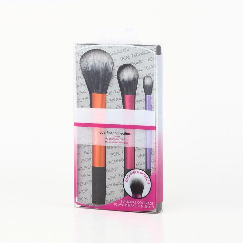 Mix Color Makeup Brushes Set Duo-Fiber Collection Face Eye Contour Brush kit Maquiagem Beauty Make Up Tool With Retail Box