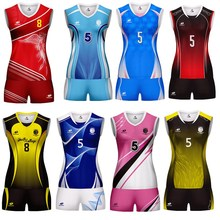 Marshal Professional DIY Volleyball Team Suits For Women Quick Dry Sleeveless Jersey Set Female Match Tracksuit S~3XL