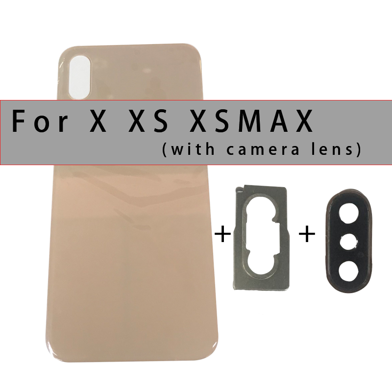 Battery-Cover Back-Glass Rear-Housing Camera-Lens for Xs/xs MAX with And 3m-Tape Best-Quality