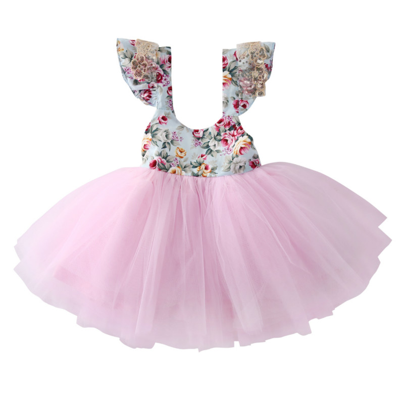 0-5Y Princess Baby Girls Kids Toddler Mini Tutu Dress Floral Lace Party Christmas Wedding Pageant Tulle Dresses Costume Sundress suton baby girls dresses summer tutu princess baby flower costume lace tulle baby casual party dress for 2 6 years kids dresses