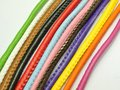32.8 Feet  Stitched Round Soft Synthetic Leather String Jewelry Cord 5mm