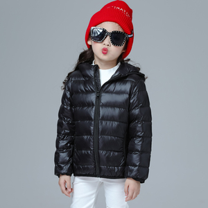 Image 3 - Girls Down Jacket Fashion Children Winter Coat Kids Ultra Light Winter Jackets for Girls Portable Hooded Down Coats for Teenage