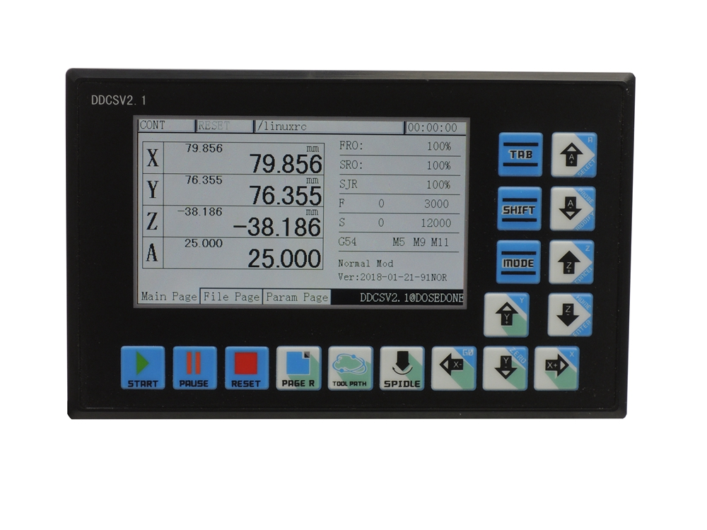 DDCSV2.1 CNC Eixo 4 Offline Stand alone controlador substituir Mach3 USB controle do motor Gravura De Trituração De Perfuração Máquina de 500 KHz