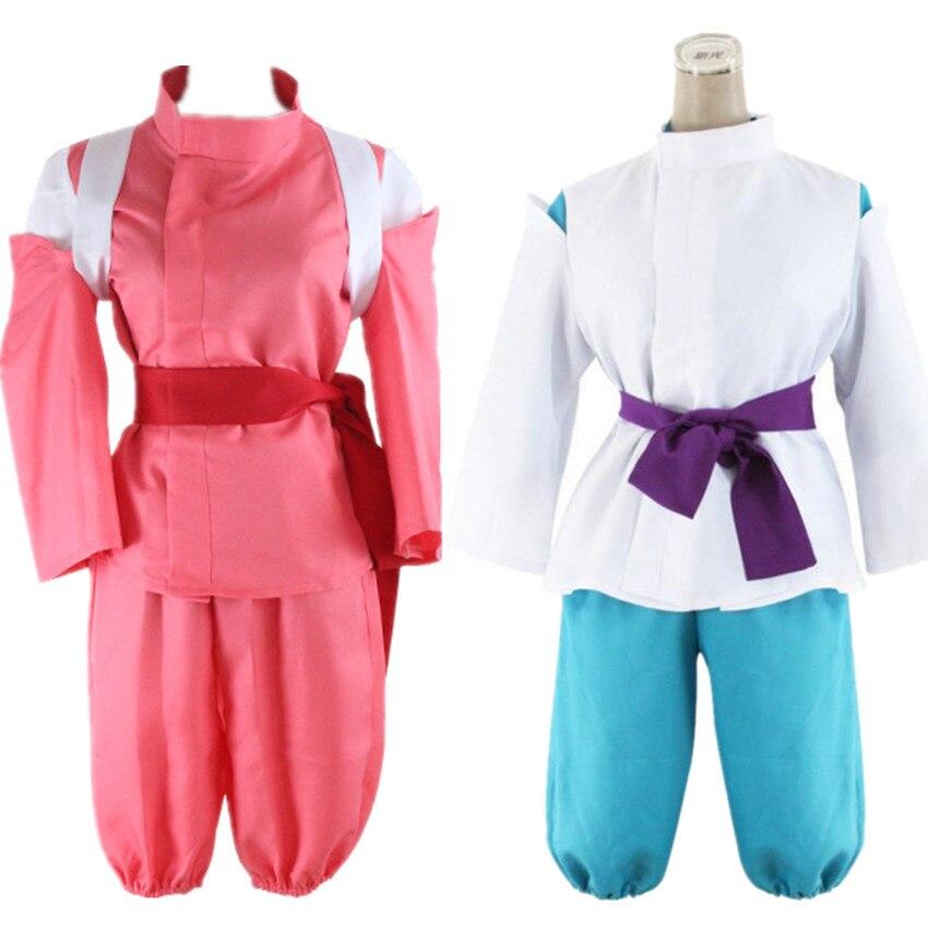 Anime Miyazaki Hayao Spirited Away Haku Chihiro Ogino Sen Cosplay Costume