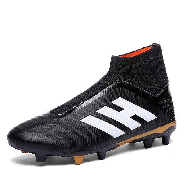 857ab630679 Predator 18,1 FG zapatos de fútbol hombres 2018 calcetines sin cordones  botas de fútbol