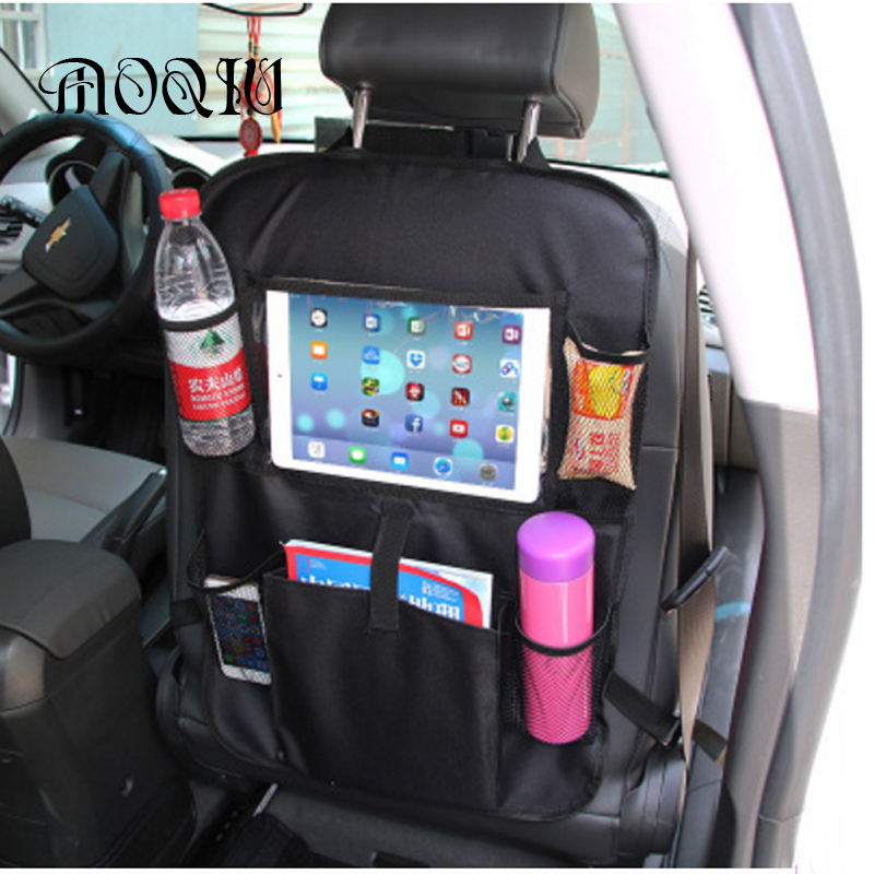 2017 Car Oxford Cloth Seat Back Storage Bag Drink Phone Organizer Nets Car Style Durable Car