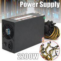 2200W Mining Machine Power Supply Support 8 Card SATA Port Connectors For Bitcoin Miner Ethereum ZEC