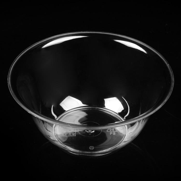 disposable hard plastic transparent crystal household rice dessert bowl smoothie ice bowl