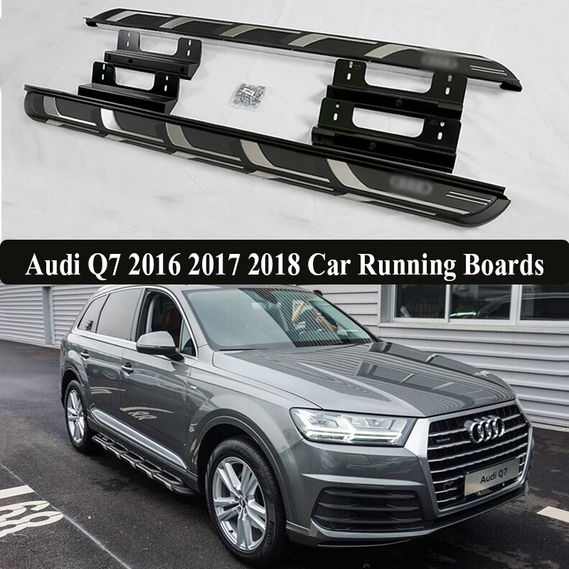 Jioyng For Audi Q7 2016 2017 2018 Car Running Boards Auto