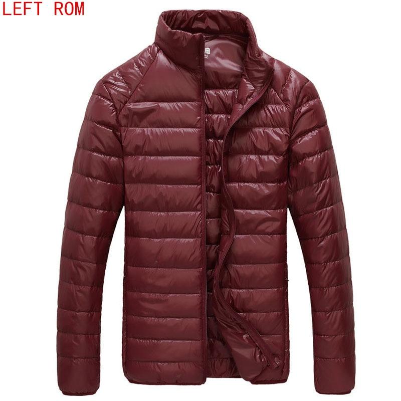 2017 új férfiak téli kabát Ultra Light 90% fehér kacsa leeső kabátok alkalmi hordozható téli kabát férfiaknak plusz méretű parkok