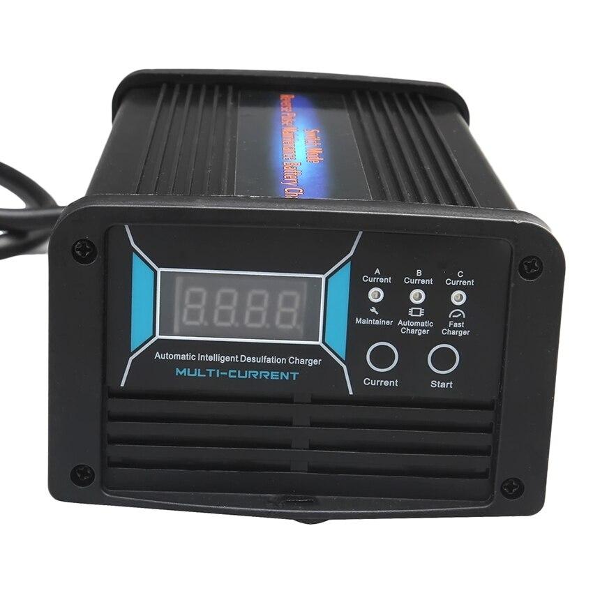 12 v 10A/15A/20A 3 em 1 Comutável Atual Carregador de Bateria de Carro Manutenção & Desulfator 7- fase Carregador Inteligente para Bateria 40-240AH