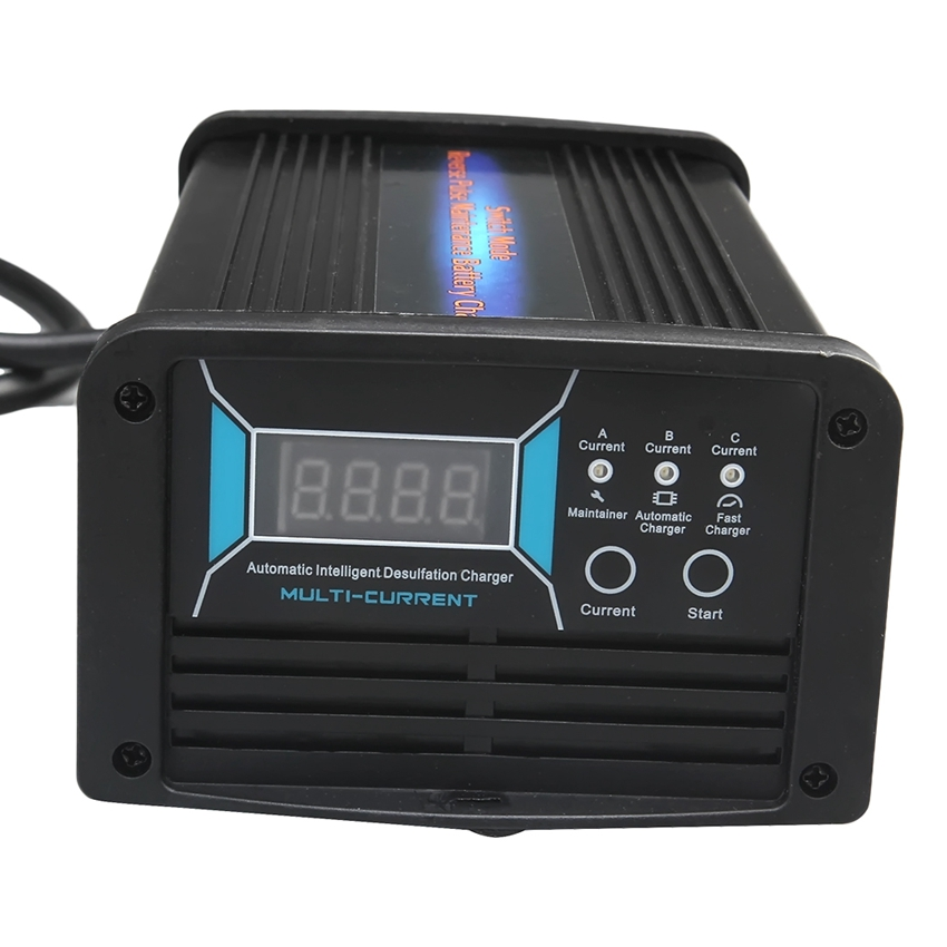 12V 10A/15A/20A <font><b>3</b></font> in 1 Current Switchable Car Battery Charger Maintainer & Desulfator <font><b>7</b></font>-stage Smart Charger for 40-240AH Battery image