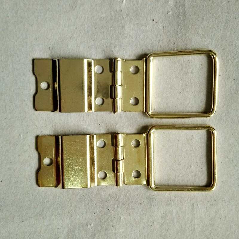 100pcs 16*40mm Brass Hinge Even Antique Wooden Box Hinge Support Wire 50pcs 22 46mm antique hinge wooden box hardware accessories metal hinge special jewelry box wholesale even the wire hinges