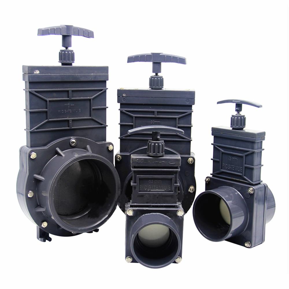DN32/DN40/DN50/DN65/DN80 UPVC Sewage Gate Valve 1.5inch/2inch/2.5inch/3inch/3.5inch Extensible Design