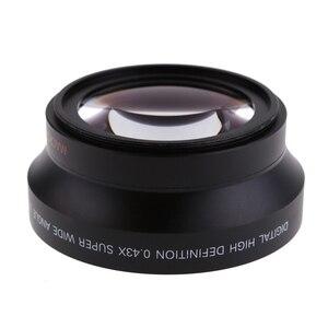 Image 2 - 67mm cyfrowy o wysokiej rozdzielczości 0.43x super szeroki kąt obiektyw do modeli canon Rebel T5i T4i T3i 18 135mm 17 85mm dla Nikon 18 105 70 300VR