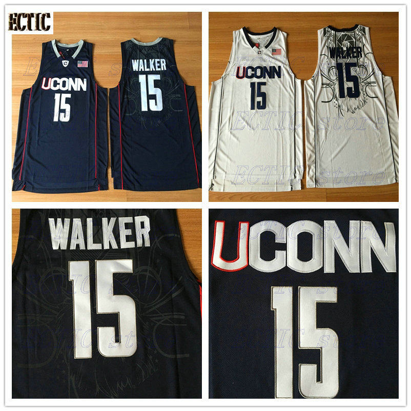 aa5d0b11d3f 2018 New Uconn #15 Huskies Kemba Walker Home White Basketball Jersey For Men  Embroidery Logos