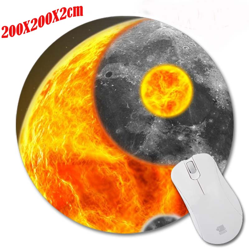 Fondos de pantalla de la luna Print Anti-slip New Arrival Customized Circular Mouse Pad Computer PC Nice Gaming Mousemat As Gift