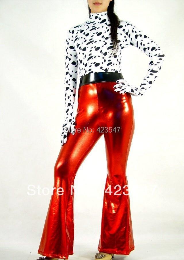 Halloween cospaly glue zentai lycra and red play activities Zentai Suit