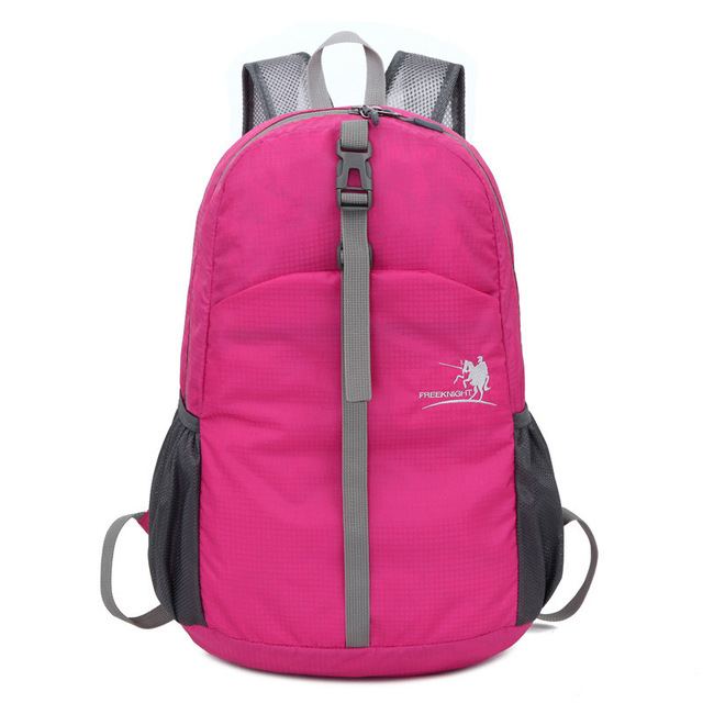 Free knight 30L waterproof nylon Foldable Outdoor Sports Backpack student school bag Travel backpack Climbing bag (rose red) outdoor sports double shoulder bag student bag computer bag waterproof pack free shipping