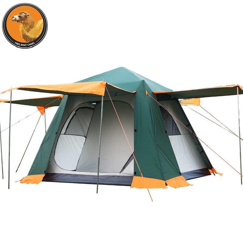 Livraison Bateau chameau En Plein Air 3-4 personnes à double famille Loisirs Parc tente de camping