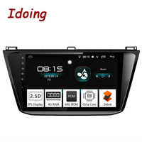 Idoing 10.28Core Car Android8.0 Radio Multimedia Player Fit VW Tiguan 2017 4G+64G 2.5D IPS Built in GPS Navigation and GLONASS