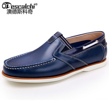 Odescalchi Causal Shoes Sleeves Men Loafers High Quality Genuine Leather Moccasins Men Driving Shoes Boat Shape Flats For Man