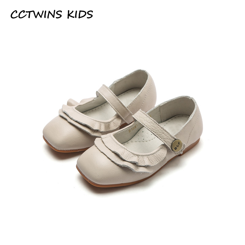CCTWINS KIDS 2018 Spring Toddler Dance Genuine Leather Shoe Children Fashion Flat Baby Girl Brand Princess Mary Jane GM2001 wendywu spring autumn children fashion pu leather heeled shoe for baby girsl rhinestone princess dance shoes gold toddler