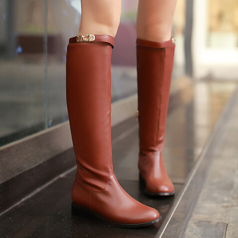 ФОТО Free Shipping Fashion Autumn Female Shoes Over-the-knee Women's Boots Flat Shoes Sexy Women Long High Boots XWX323